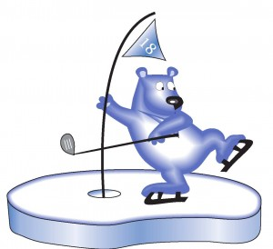 Bear'ly Open Golf on Ice