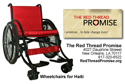 Wheelchairs for Haiti
